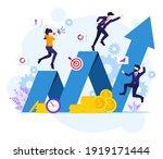 investment concept  businessman ... | Shutterstock .eps vector #1919171444