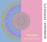 ethnic mandala ornament.... | Shutterstock .eps vector #1919231171