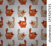 design on orange  white and... | Shutterstock .eps vector #1919247191