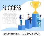 business idea. step towards...   Shutterstock .eps vector #1919252924