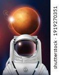 astronaut space helmet...   Shutterstock .eps vector #1919270351