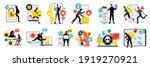 colorful flat design... | Shutterstock .eps vector #1919270921