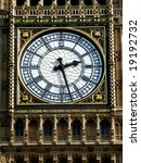 A Close Up Of The Clock Face O...