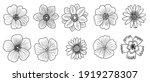 vector drawing set of vintage...   Shutterstock .eps vector #1919278307