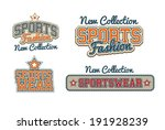 sportswear signs collection | Shutterstock .eps vector #191928239