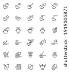 cooking instructions line icons ... | Shutterstock .eps vector #1919305871