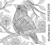 Coloring Page Little Bird...