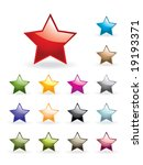 colourful stars collection | Shutterstock .eps vector #19193371