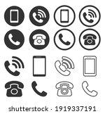 phone icon symbol set....
