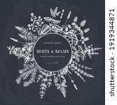 mint wreath design on a... | Shutterstock .eps vector #1919344871