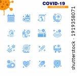 coronavirus awareness icons. 16 ... | Shutterstock .eps vector #1919358071