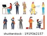 woman worker set  coder or... | Shutterstock .eps vector #1919362157