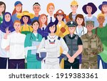 international women's day.... | Shutterstock .eps vector #1919383361