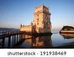 belem tower on the tagus river... | Shutterstock . vector #191938469