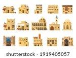 flat vector set of authentic... | Shutterstock .eps vector #1919405057