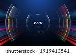 digital speedometer with motion ... | Shutterstock .eps vector #1919413541