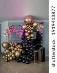Decor With Balloons Of Gold And ...