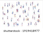 isometric vector background... | Shutterstock .eps vector #1919418977