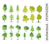 collection of trees...   Shutterstock .eps vector #1919423234