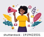 african woman female video... | Shutterstock .eps vector #1919423531