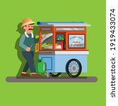 tukang baso tahu gerobak is man ... | Shutterstock .eps vector #1919433074