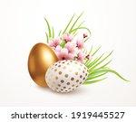 happy easter greeting... | Shutterstock .eps vector #1919445527