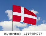 Denmark flag isolated on the...