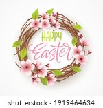 happy easter greeting... | Shutterstock .eps vector #1919464634