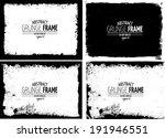 grunge frame set. vector... | Shutterstock .eps vector #191946551