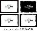 grunge frame set. vector... | Shutterstock .eps vector #191946554