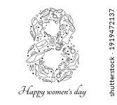 happy women's day. march 8...   Shutterstock .eps vector #1919472137