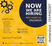 job recruitment mechanical... | Shutterstock .eps vector #1919482307