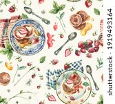 watercolor seamless pattern... | Shutterstock . vector #1919493164