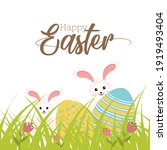 illustration of bunny with... | Shutterstock .eps vector #1919493404