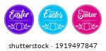 easter posters or flyers design ... | Shutterstock .eps vector #1919497847