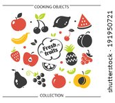fruit set | Shutterstock .eps vector #191950721