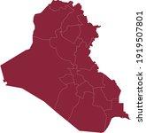 vector illustration of iraq map   Shutterstock .eps vector #1919507801