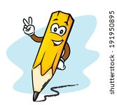 cheerful pencil with face and... | Shutterstock .eps vector #191950895