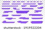 purple highlighter lines set...   Shutterstock .eps vector #1919522204