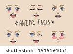 Set Of Different Cartoon Facial ...