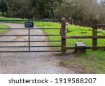 Please Close The Gate Sign On A ...