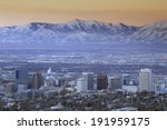 Skyline Of Salt Lake City  Ut...