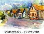 Narrow Czech Village Street...