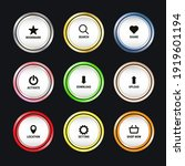 set of colorful web button...   Shutterstock .eps vector #1919601194