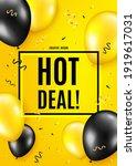 hot deal. balloon celebrate... | Shutterstock .eps vector #1919617031