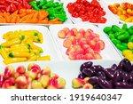 ball plated dessert  colorful... | Shutterstock . vector #1919640347