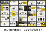 abstract white  yellow  slides. ... | Shutterstock .eps vector #1919640557