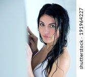 sexy woman in swimsuit posing... | Shutterstock . vector #191964227