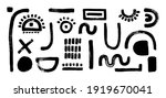 set of abstract shapes. face... | Shutterstock .eps vector #1919670041