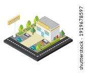 fast food restaurant building...   Shutterstock .eps vector #1919678597